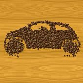 Coffee Car Generated Texture Background