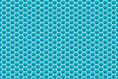Honeycomb structure blue