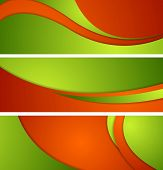 Bright corporate waves banners. Vector illustration eps 10