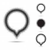 Halftone Design Elements.