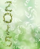 picture of creeper  - 2015 word of creeper flower on green bokeh background - JPG