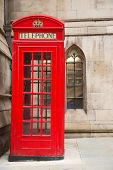 picture of phone-booth  - a typical red London phone box  - JPG