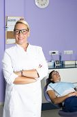 Female Dentist And A Patient