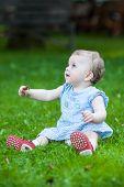 Beautiful Drooling Cute Baby Girl