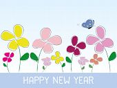 Happy New Year Flower Style