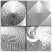 Set of Abstract Illusion Card. Vector Background Illustration