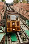 Funicular To Buda Castle In Budapest