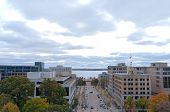 Aerial Of Madison Toward Monona Terrace