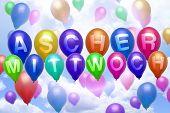 German Carnival Ash Wednesday Balloon Colorful Balloons