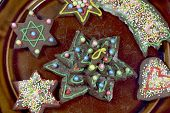 Decorative gingerbread cookies