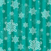 Holiday vector seamless background with brushed stripes and snow