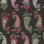 pic of teardrop  - Seamless pattern based on traditional Asian elements Paisley - JPG