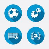 stock photo of laurel  - Football icons - JPG