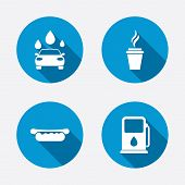 stock photo of petrol  - Petrol or Gas station services icons - JPG