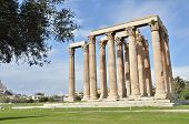 stock photo of olympian  - A view of the ruins of the temple of Olympian Zeus in Athens - JPG