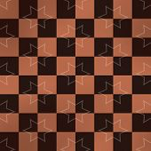 pic of chessboard  - Starry brown chessboard generated texture or background - JPG