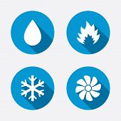 stock photo of ventilator  - HVAC icons - JPG