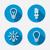 picture of fluorescent  - Light lamp icons - JPG