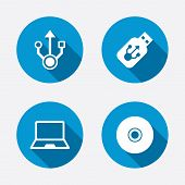 stock photo of usb flash drive  - Usb flash drive icons - JPG