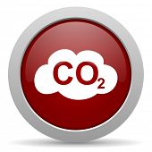 image of carbon-dioxide  - carbon dioxide red glossy web icon  - JPG