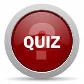 foto of quiz  - quiz red glossy web icon  - JPG