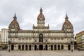 picture of pita  - A Coruna Town Hall located on Maria Pita Square in Galicia Spain - JPG