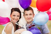 pic of latex woman  - Head and shoulders portrait of happy cheerful couple - JPG
