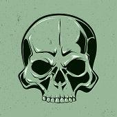 image of skull  - Single skull art - JPG
