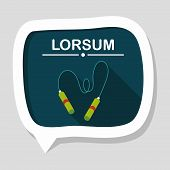 picture of skipping rope  - Skipping Rope Flat Icon With Long Shadow - JPG