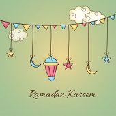picture of ramazan mubarak card  - Holy month of muslim community - JPG