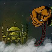 image of rosary  - Islamic holy month of prayers - JPG