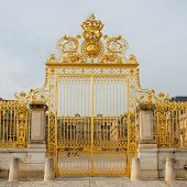 stock photo of versaille  - Golden gate of Versailles palace - JPG