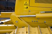 picture of hydraulics  - Detail of hydraulic bulldozer piston excavator arm - JPG
