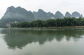 pic of early 20s  - the famous 20 yuan banknote scenery taken early in the morning when the li river is calm - JPG
