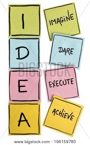 idea acronym imagine dare execute