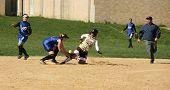 high school softball game