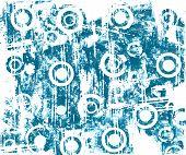 Circles Grunge Blue