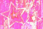 Hot Pink Grunge Stars