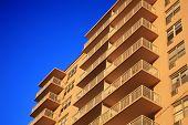 Apartment building terrace