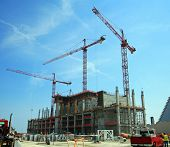 picture of erection  - Construction work site - JPG