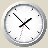Wall clock. Vector.