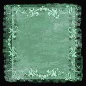 Decorative Border Frame Grunge Green