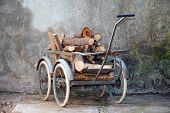 Wheelbarrow With A Load Of Wood