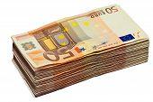 Stack Of 50 Euro Bills