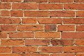 Brick wall horizontal texture