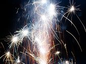 image of special occasion  - Fireworks display to celebrate a special occasion or holiday - JPG