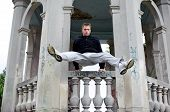 picture of parkour  - An image of a young man in the street - JPG
