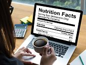 Nutrition Facts Gluten Free Food  Celiac Disease Nutrition , Healthy Lifestyle Concept With Diet And poster
