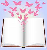 livro e borboleta