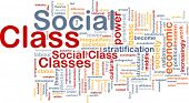 Background concept wordcloud illustration of social class